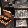3 Embossed Aluminum Butterfly Nesting Boxes