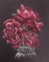 Europeana Roses In Glass Vase