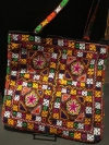 Large Square, Colorful  embroidered handbag
