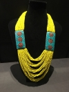 Yellow Bohemian Drape Necklace