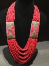 Red Bohemian Drape Necklace