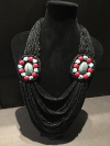 Black Bohemian Drape Necklace