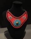 Ethnic Beaded Bib Choker Neckless