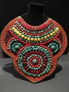 Ethnic Beaded Bib Choker Neckless Chimpanzee