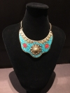 Turquoise Cleopatra Themed India Styled Necklace