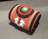 Red Authentic Indian Beaded Cuff Bracelet