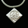 Viking Knit Weave Necklace with Silver Pendan