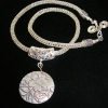 Viking Knit chain with Silver Pendant