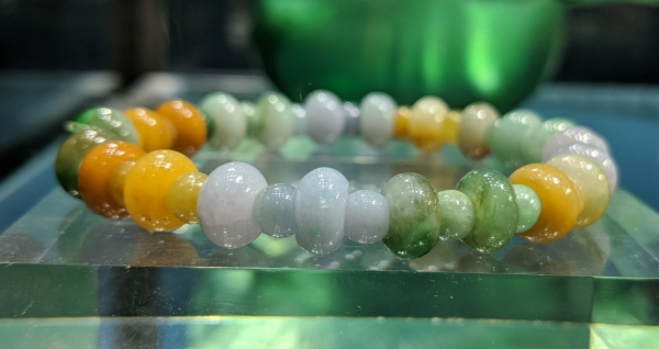 Multi Color Jadeite Jade Bracelet