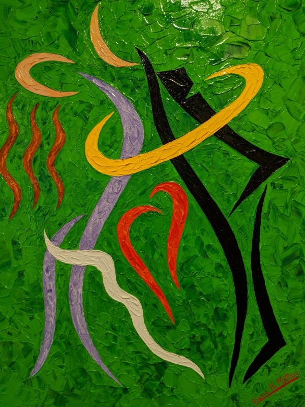 Pierre Matisse Green Lovers Abstract