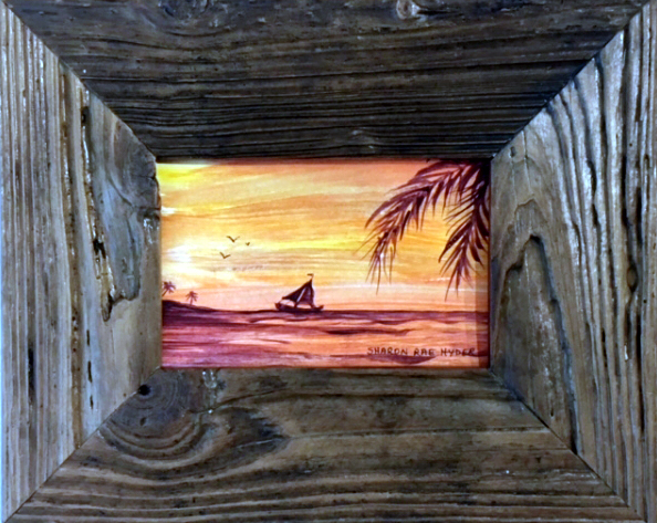 Driftwood Framed Beach
