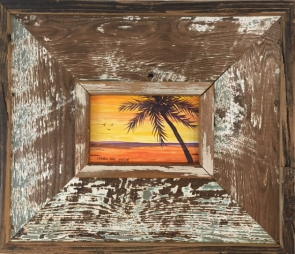 Found Wood Framed Beach