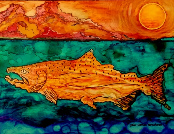 Swimming Wild...tribute to the Alaskan Salmon