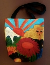 Artist Original Design Bag Flower Girl