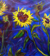 Sunflowers in the Wind (framed)