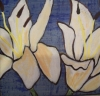 White Lillies on Blue (Sold)