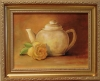 White Teapot With Rose