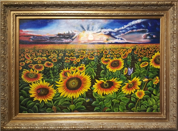 Endless Sunflower Sunset