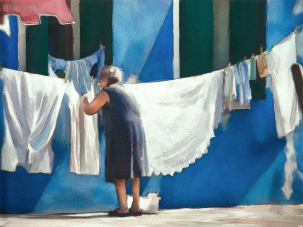 Laundry Day - Burano