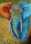 Colorful African Elephant  SOLD
