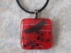 Fused glass pendant #2546